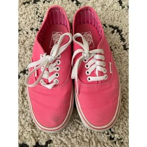 Authentic Pink Vans